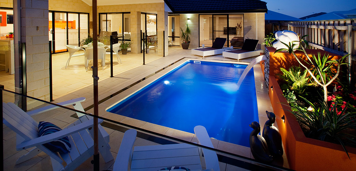 """Santa Fe"" Fibreglass Pool Design in Perth 