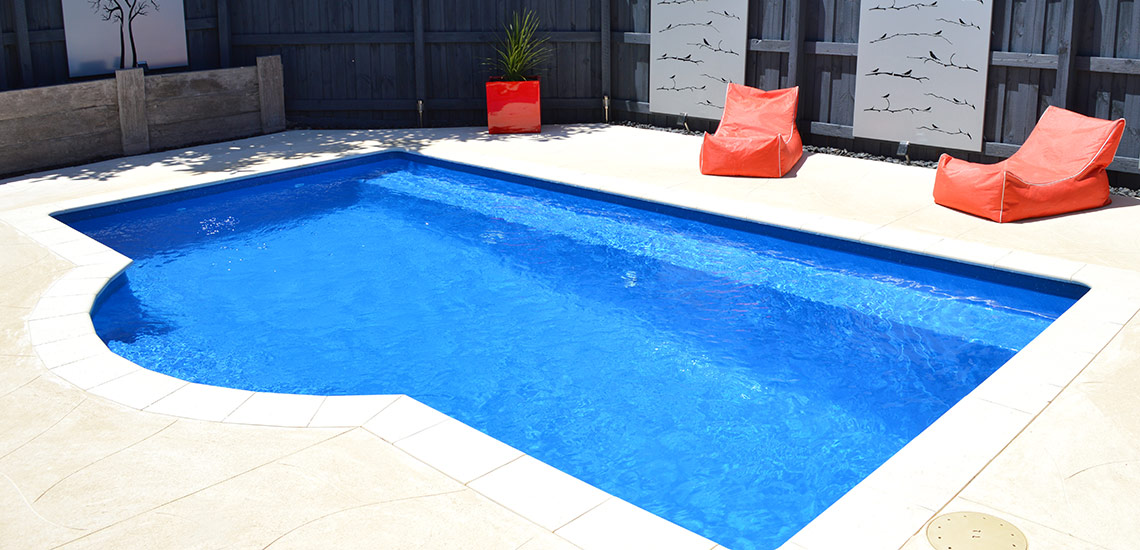 """Santorini"" Fibreglass Pool Design in Perth   Buccaneer Pools Western Australia"