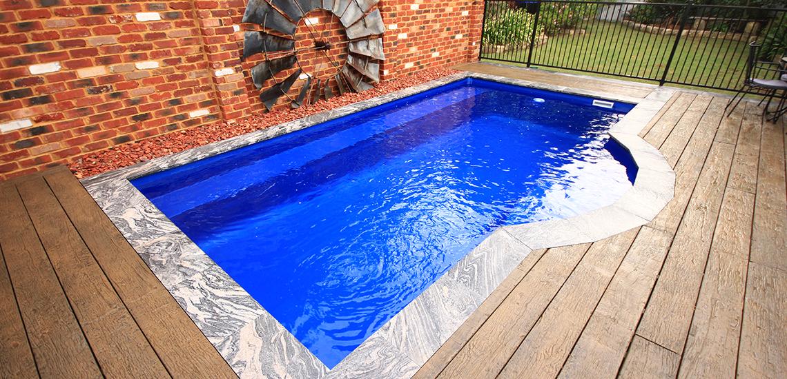 """""""Santorini"""" Fibreglass Pool Design in Perth   Pool Buyers Guide"""