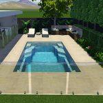 Castelle Fibreglass Swimming Pool