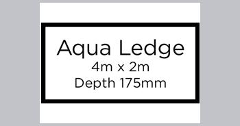 Aqua Ledge Swimming Pool (4m x 2m, depth 1755mm)