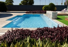 Amalfi Large Fibreglass Pool - 9m x 3.6m | Pool Colour : Hamptons Blue