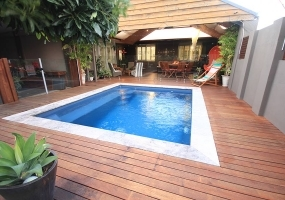 Capri Small Fibreglass Pool - 4m x 3.2m | Pool Colour : Cosmic Blue
