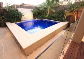 Capri Small Fibreglass Pool - 4m x 3.2m | Pool Colour : CyberNight
