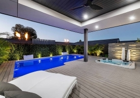Cayman Medium Fibreglass Pool - 7.07m x 4m   Pool Colour : Twilight