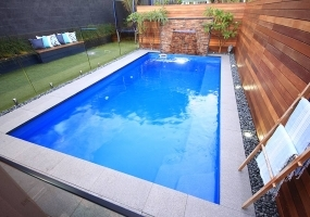 Positano Small Fibreglass Pool - 6m x 3.2m | Pool Colour : Mediterranean Blue