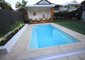 Positano Small Fibreglass Pool - 6m x 3.2m | Pool Colour : Sky Blue