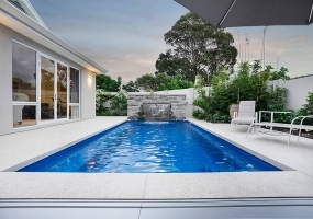 Revello Medium Fibreglass Pool - 6.8m x 3.33m | Pool Colour : Assana Blue