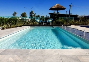 Revello Medium Fibreglass Pool - 6.8m x 3.33m | Pool Colour : Sky Blue