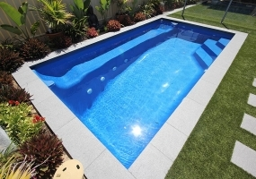 Santa Fe Fibreglass Small Pool - 5m x 2.7m | Pool Colour : Cyber Blue