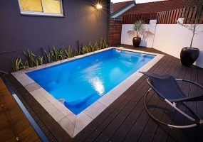 Santa Fe Fibreglass Small Pool - 5m x 2.7m | Pool Colour : Mediterranean Blue