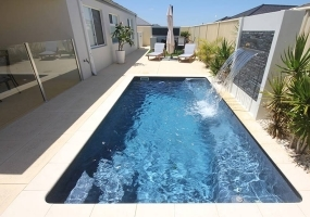 Santa Fe Fibreglass Small Pool - 5m x 2.7m | Pool Colour : Volcanic Ash