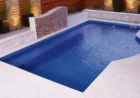 Santorini Fibreglass Small Pool - 6m x 3.6m | Pool Colour : Cyber Pearl