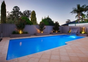 Tasman Large Fibreglass Pool - 9.5m x 4.4m | Pool Colour : Artesian Mist