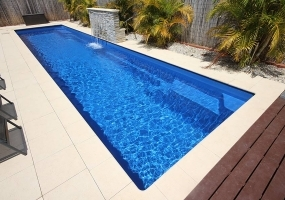 Ultimo Large Fibreglass Pool - 11m x 2.5m | Pool Colour : Cyber Blue