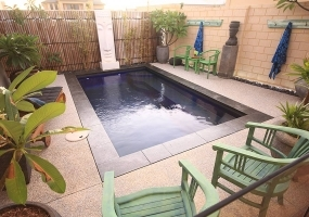 Verona Small Fibreglass Pool - 4.5m x 2.5m | Pool Colour : Cyber Storm